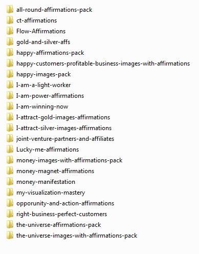visualization-turbo-by-carl-bradbrook-affirmation-packs-list